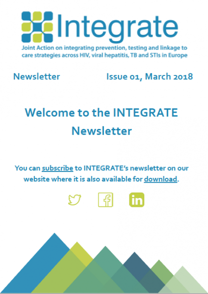first INTEGRATE newsletter